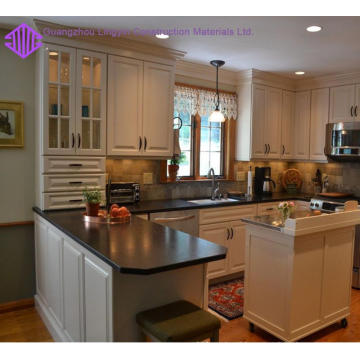 Top level modern shaker kitchen cabinet with island