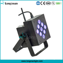 Indoor 9X10W RGBW DMX PAR LED Battery Powered DJ Lights
