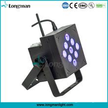 Luzes a pilhas internas do DJ do diodo emissor de luz de 9X10W RGBW DMX PAR