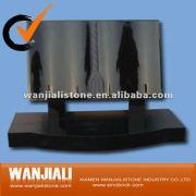 Shanxi black granite tombstone,book monument