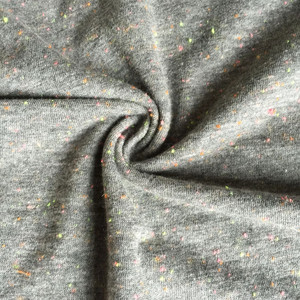 Colorful knots grey melange shirt fabric