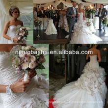 NW-213 Sweetheart Decote com Vestido de Noiva Strapless com cintura caída IAN STUART FLOWERBOMB