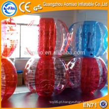 Novo concebido cor cor corpo zorb bola, inflável bola saltitante bola vermelha / azul