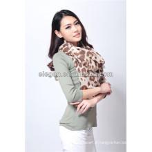 Mulheres impressão de alta qualidade do leopardo da forma todo o lenço longo de março
