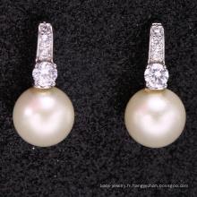 cadeau de graduation de haute qualité petite boucle d'oreille avec perle