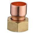 Porca de flare de cobre, junção de latão J9202, conexão de tubulação de latão e cobre, UPC, NSF SABS, WRAS aprovado