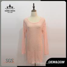 Women Lattice Long Knitted Dress