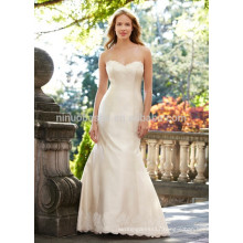 NA1012 Chic Simple Mermaid Sweetheart Sweep Train Appliqued Lace Wedding Dress