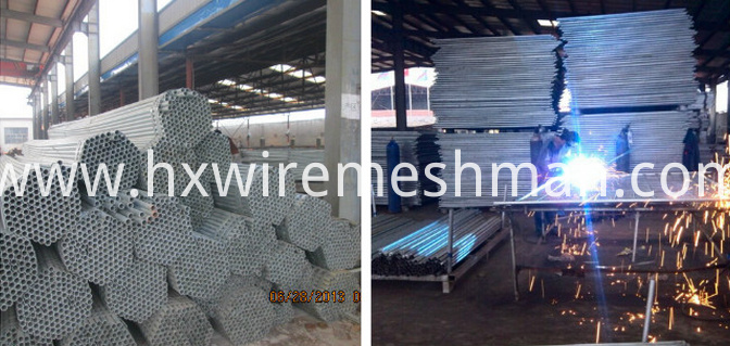 production process of fence