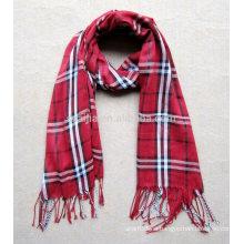 Forme a mujeres la tela escocesa la bufanda viscosa del pashmina del 100%
