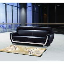 Ensemble de canapé en cuir PU noir canapé de bureau (DX523)