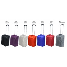 Collapsible foldable trolley carry-on soft luggage