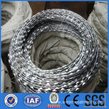 Galvanized razor barbed wire for military