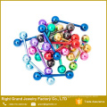 316L Surgical Steel Colorful Anodized Nipple Breast Ring Barbell