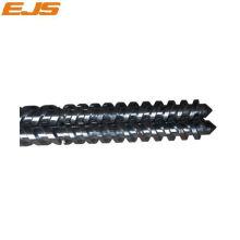 twin parallèle bimétallique à vis et baril pour machine d'extrusion de PVC