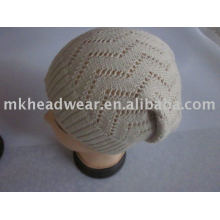 fashion 100% acrylic women' knitted winter hat