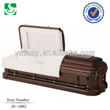 JS-A882 luxury mahogany wood caskets for direct sale