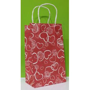 Paper bag with twisted handle