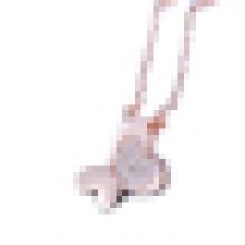 Damenmode Sterling Silber eingelegten Zirkon Schmetterling geformt Anhänger Halskette
