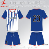 Training Blue And White Country Soccer Jersey Uniform