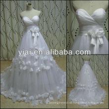 JJ2786 handgemachte Blumen geschwollenes Tulle Hochzeitskleid
