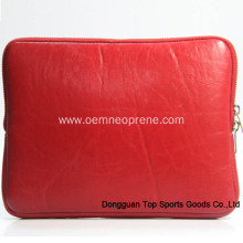 Factory Free sample for Laptop Sleeve Bag with Handle Waterproof Soft Red Leather Laptop Sleeves supply to Germany Manufacturers