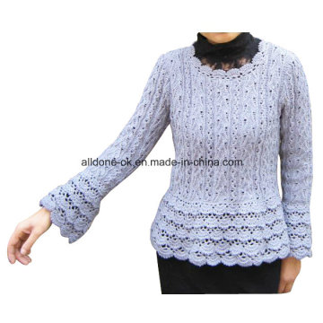 Handmade Crochet Summer Long Sleeve Women Top Dresses Hippy Blouse