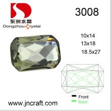 Pedra extravagante de cristal popular do tamanho da cor 10 * 14mm para acessórios do vestuário
