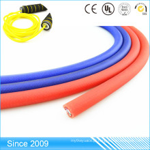 Anule a corda de nylon revestida redonda trançada colorida do Webbing do PVC para a trela do cão