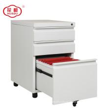 2018 venda quente de alta qualidade de metal branco arquivo de armazenamento de gavetas móveis