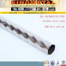 Tubulação decorativa de aço inoxidável soldada polida alta de ASTM A270 304 / 316L