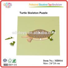 Materiales Montessori - Tortoise Puzzle