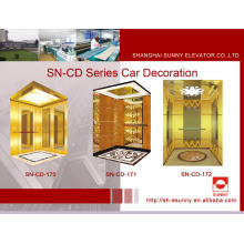Cabina de elevación con el panel de la línea del pelo (SN-CD-170)