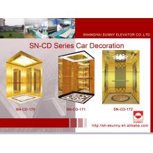 Cabina de ascensor con panel de rayita (SN-CD-170)