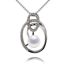 Snh 6mm Nice Quality 925silver Women Natural Pearl Pendant