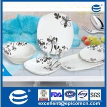 Fine nouvelle porcelaine, assiette en porcelaine royale, assiette en porc chinois 20pcs réglée pour une utilisation quotidienne de 6 personnes