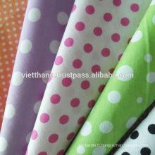 Impression 100% coton 110 * 70 / CM40 * CM40 105gsm de haute qualité du Vietnam