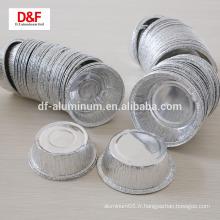 Contenants d'aliments en aluminium jetables