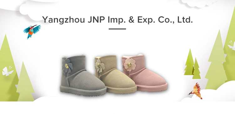 Toddler Kids Winter Outdoor Leather Cute Flat Boots