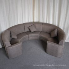 Contract Hotel Lounge Lobby Fabric Sectional Round Sofa (SP-KS322)