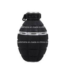 Plástico e liga de zinco granada forma hookah shisha tigela cabeça