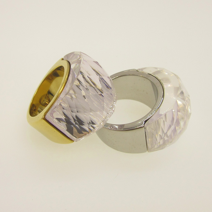 Silver Color Single Stone Mens Diamond Rings