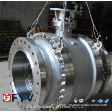 API 6D Válvula de bola montada en muñón asentada de metal a metal