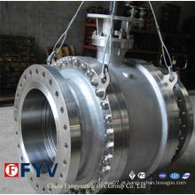 API 6D Válvula de esfera montada em tronco assentado metal a metal