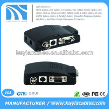 CCTV Camera BNC S-Video VGA PC to VGA Converter Adapter