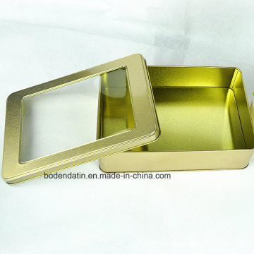 High Quality Promotional Custom Small Rectangular Metal Cookie/Chocolate Tin Box