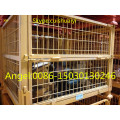 Heavy Duty Wire Mesh Container Used for Storage with Caster