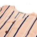 atacado blusa de escritório de moda personalizada com tops camisas femininas de grife com decote em v