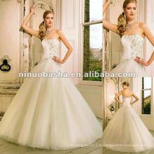 Тулл многослойные юбки, усыпанные кристаллами свадебное платье