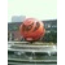 Grande balle de Tai Chi à l'art moderne ou statue de boule de décoration extérieure ou boule de métal ou sculpture en boule en acier inoxydable